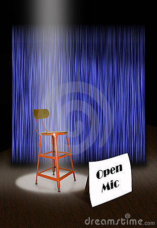 Free On Stage Open Mic Stock Photo - 2456240