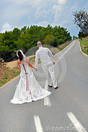Free On The Road Two Lives Coming Together  Royalty Free Stock Photography - 38561457