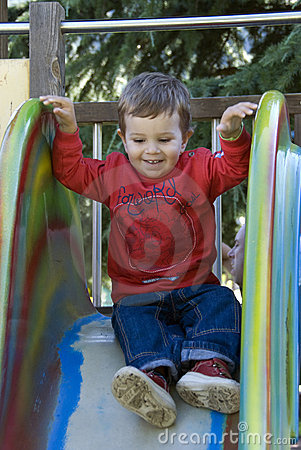 Free On The Slide Stock Photo - 6116570
