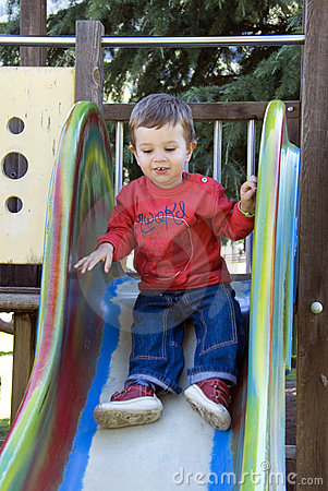 Free On The Slide Stock Images - 6116634