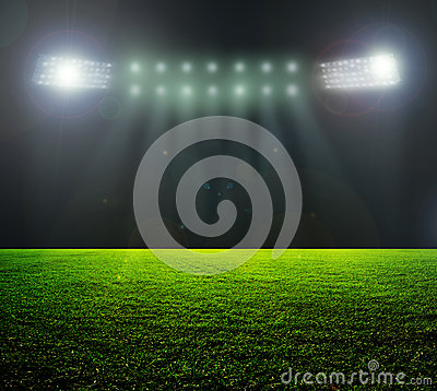Free On The Stadium. Stock Image - 38930581