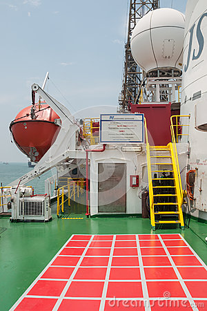 Onboard the Drill Ship Editorial Stock Photo