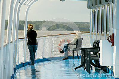 Onboard of river cruise ship Editorial Stock Photo