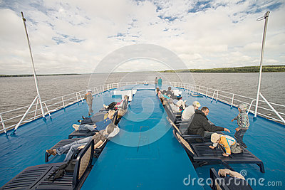 Onboard of river cruise ship Editorial Photography