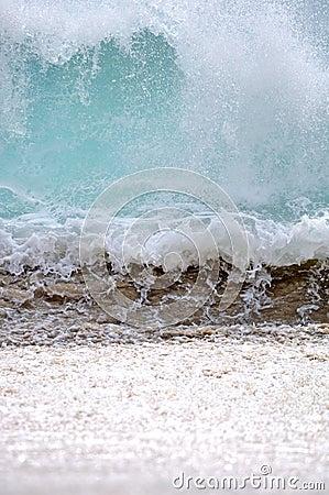 Onda de océano en Baja california Sur, México