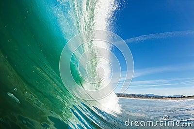 Onda de oceano azul