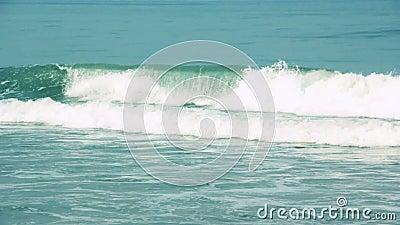 Ondas de oceano azuis no movimento lento vídeos de arquivo
