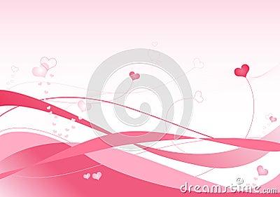 Ondas del color de rosa