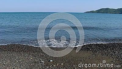 Ondas en el Mar Egeo almacen de metraje de vídeo