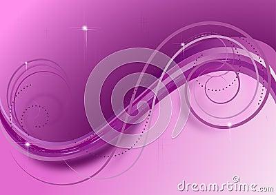 Ondas y espirales en el fondo violeta