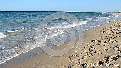 Onde che si rompono sulla spiaggia tropicale archivi video
