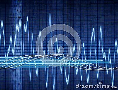 Onde sonore abstraite