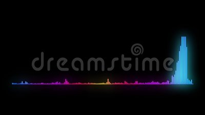 Onde sonore de moniteur de fréquence sonore 4K banque de vidéos
