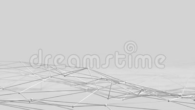 Onderling verbonden ballenlijn stock illustratie