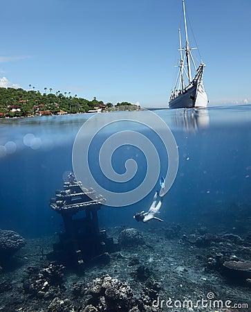 Onderwater oriëntatiepunt