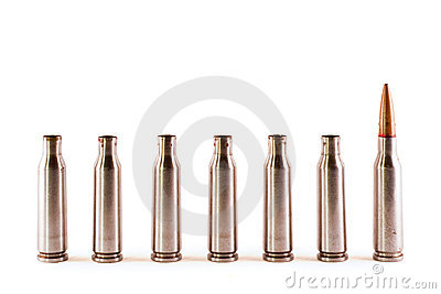 One AK bullet among shells