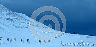 Old mine valley of Longyearbyen