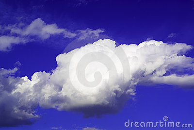 One Big cloud isolated in the