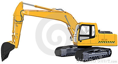 The one big yellow excavator