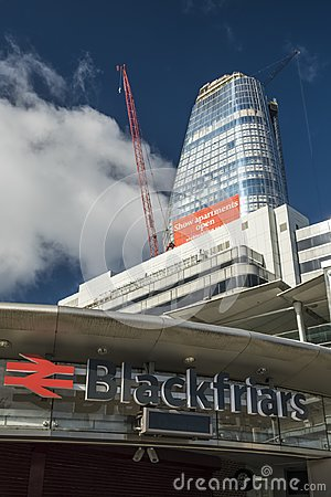 Free One Blackfriars Seen Under Construction In August 2017 Stock Photos - 111916403