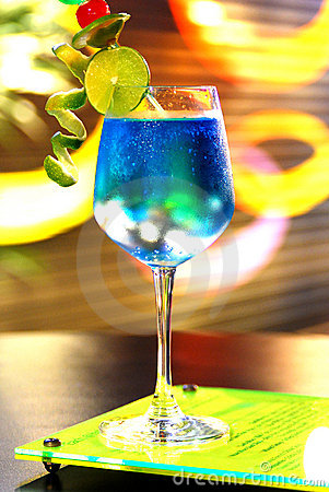 Free One Blue Cocktail Martini Stock Image - 22663931