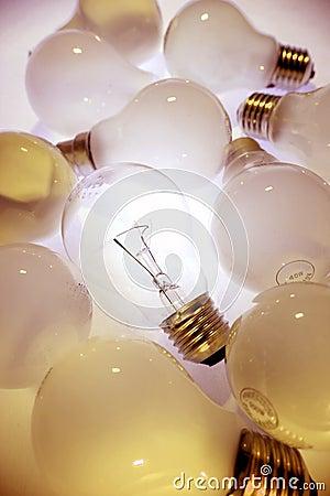 One bright light-bulb