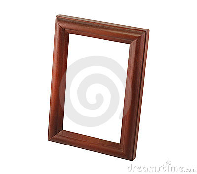 One brown wooden frame
