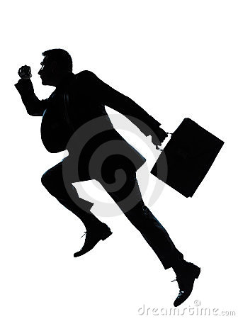 Free One Business Man Jumping Running Silhouette Stock Photo - 22651110