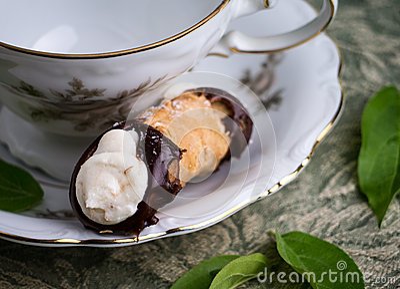 One Cannoli, Creamy Sweet Italian Dessert Pastry
