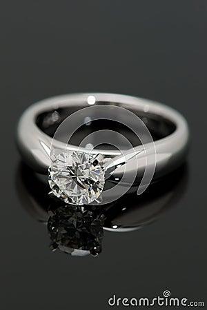 One Carat Diamond Solitaire.