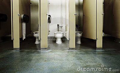 One Clean Bathroom Stall Royalty Free Stock Photography