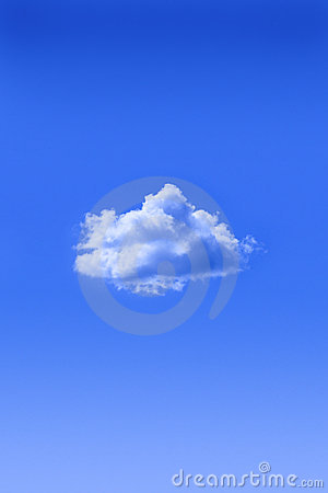 Free One Cloud Blue Sky Royalty Free Stock Photography - 10753457