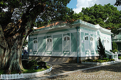 One of the colonial house in the Houses-Museum in Taipa island