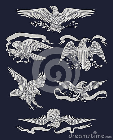Free One Color Indian Skull Vector IllustrationHand Drawn Vintage Eagle Vector Set Stock Photography - 49394492