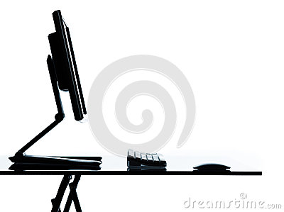 One computer monitor display on a table