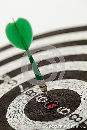 One darts on a dartboard