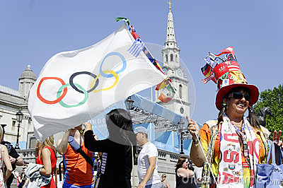 One day to London 2012 Olympics Editorial Stock Image