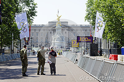 One day to London 2012 Olympics Editorial Image
