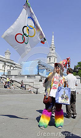 One day to London 2012 Olympics Editorial Photo