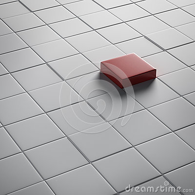 Free One Different Red Cube Stock Photography - 28697082