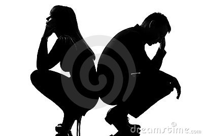 One Dispute Sad Couple Man And Woman Stock Photos - Image: 21676963