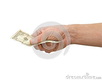 One dollar bill.
