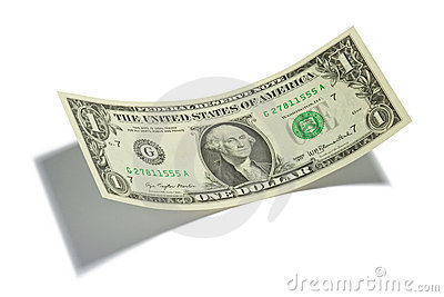 One Dollar Bill Isolated