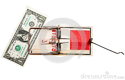 One dollar in mousetrap