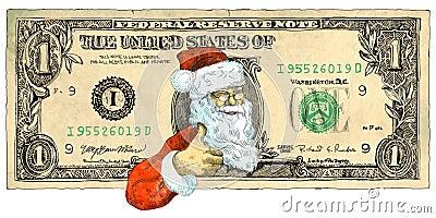 One dollar Santa