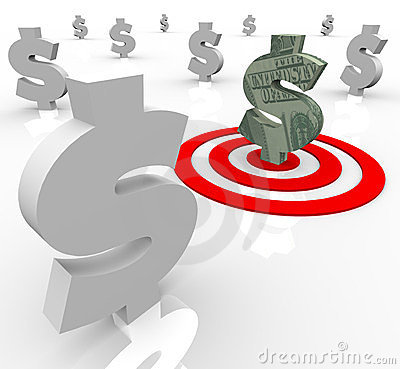 One Dollar Sign Targeted Financial Banking