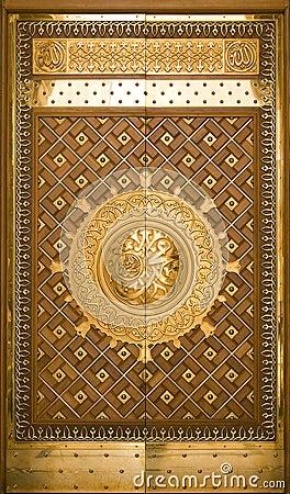 One of the doors at Masjid Nabawi in Medina, Saudi