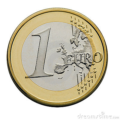 Free One Euro Coin Royalty Free Stock Images - 2851499