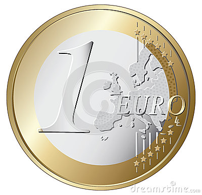 One euro coin  illustration