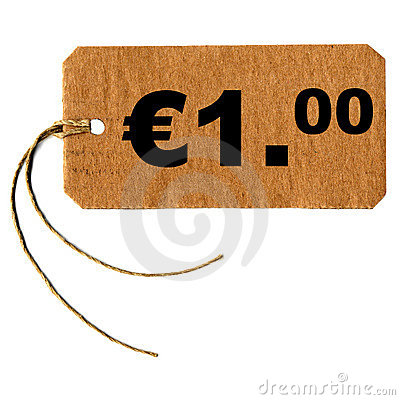 One euro tag label